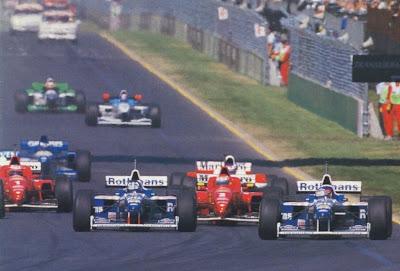 GP da Australia de Formula 1, Melbourne, em 1996 - continental-circus.blogspot.com