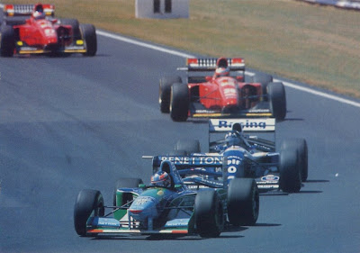 GP Da Inglaterra de F1, Silverstone em 1994 - continental-circus.blogspot.com