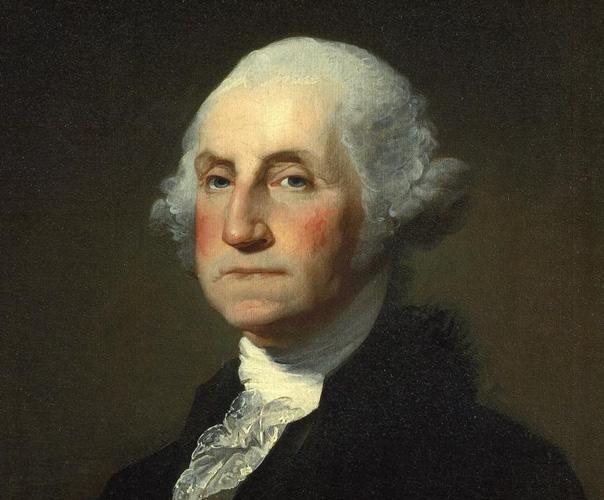 george washington dollar bill art. A man named George many