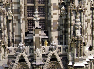 Detail from Lego cathedral