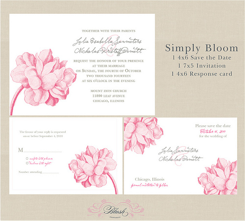 Anyway I found this gorgeous free downloadable wedding invite from Blush