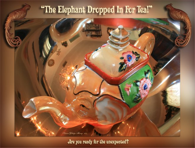 The Elephant Dropped In For Tea