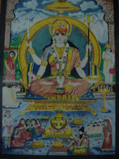 My painting - Santoshi Mata, the Goddess of Power