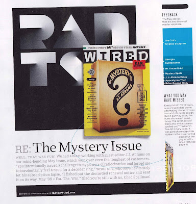 WIRED Magazine May 2009 Mystery Edition, Rants section
