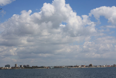 Portsmouth sea front and some really big fluffy clouds!