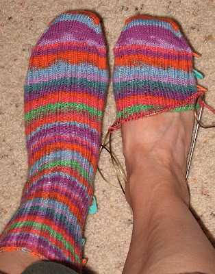 Free Knitting Pattern For Toe Up Socks On Magic Loop : Pickin and Throwin: