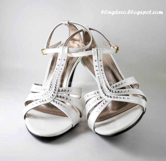bling deco bling bling bridal shoe