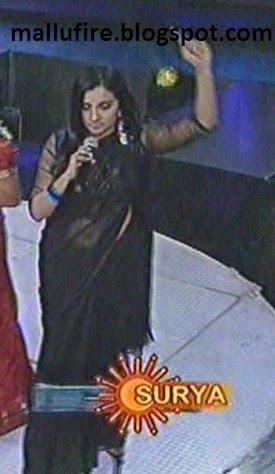 serial and cine actress: Malayalam singer manjari's navel show through ...