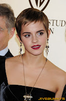 Emma Watson with short hair on the red carpet