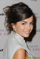 Camilla Belle in white dress