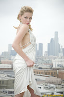 Amber Heard in Elegant and Luxury White Long Backless Gown Dress Fashion Model Photoshoot Session
