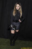 Hilary Duff sexy short skirt thigh length boots