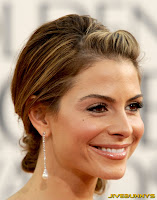 Maria Menounos in a pink dress at the Golden Globe Awards