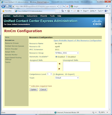 Uccx Agent Ring No Answer