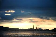 Sunset di Sungai Mahakam Samarinda