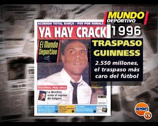 los fichajes mas caros del Barça también rompieron el mercado, Maradona, Ronaldo, Rivaldo, Cruyff