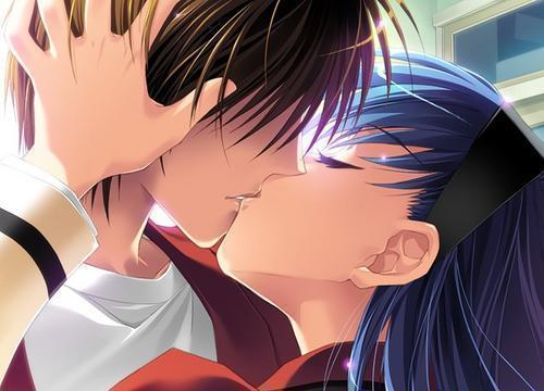 anime love kiss drawings. emo anime love kiss. anime