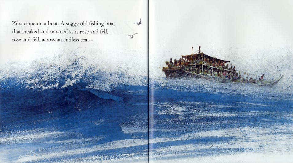 ziba came on a boat Read the picture storybook ziba came on a boat, by liz lofthouse, illustrated by  robert ingpen, the story of an afghan girl's journey to australia ziba came as.
