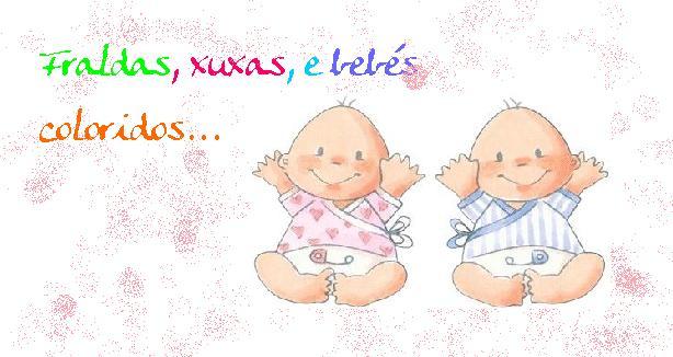 Fraldas, xuxas e bebés coloridos