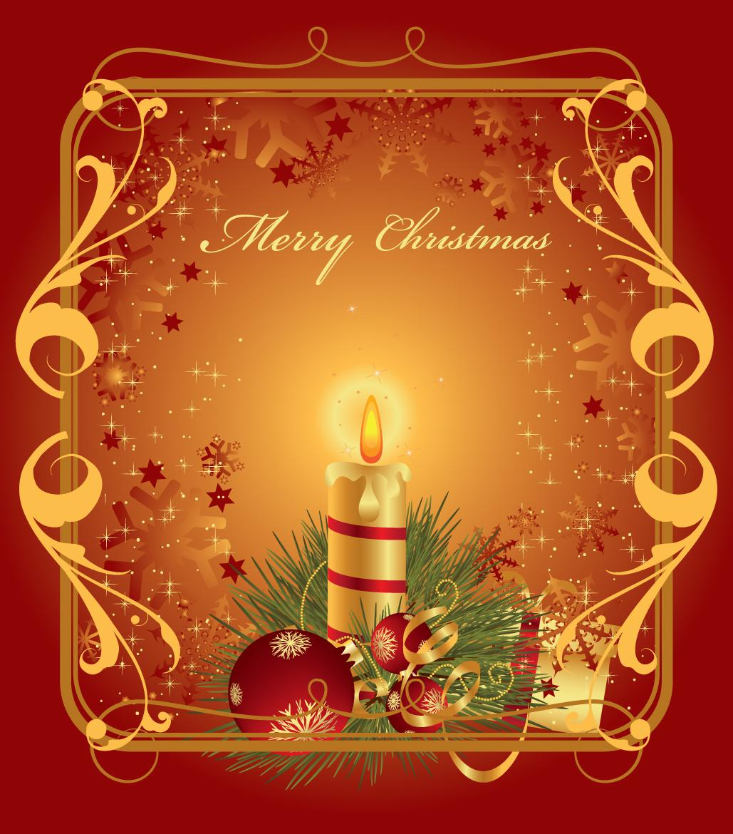 Free golden christmas greeting card christmas greeting card happy
