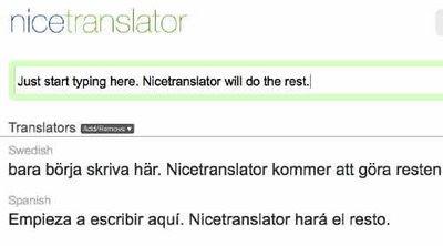 Nicetranslator översätter mellan 34 språk