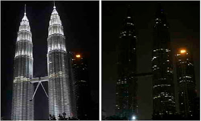Earth Hour 2009, Twin Towers, Malaysia