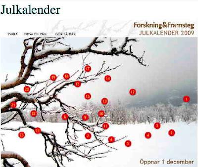 Forskning&Framstegs Julkalender 2009