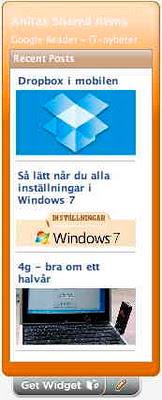 Widget med IT-aktuellt dagligen