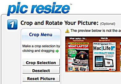 Pic Resize bildbehandling online