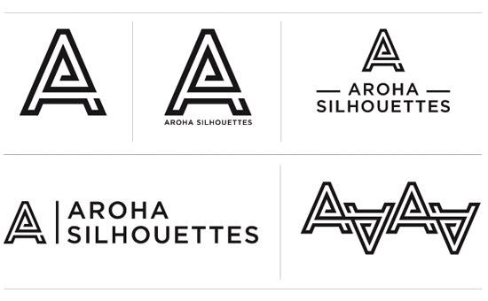 Aroha Silhouettes logo Nubby Twiglet lockups