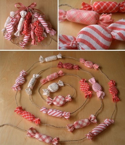Candy Fabric Garland