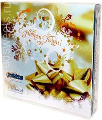 Корпоративные подарки на Новый год. Конфеты с логотипом