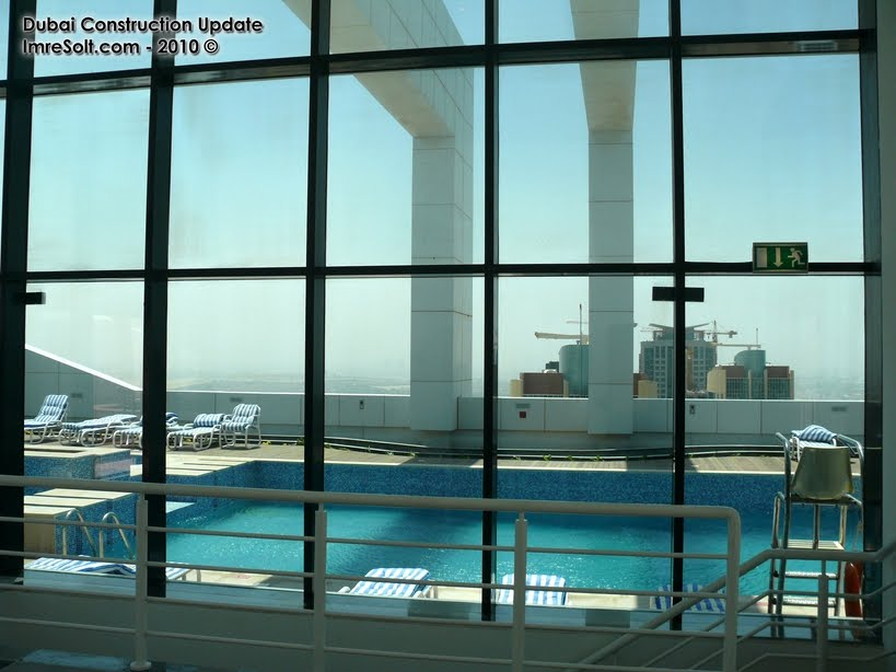 Dubai Constructions Update By Imre Solt Goldcrest Views 2 Roof Swimming Pool Jacuzzi Photos