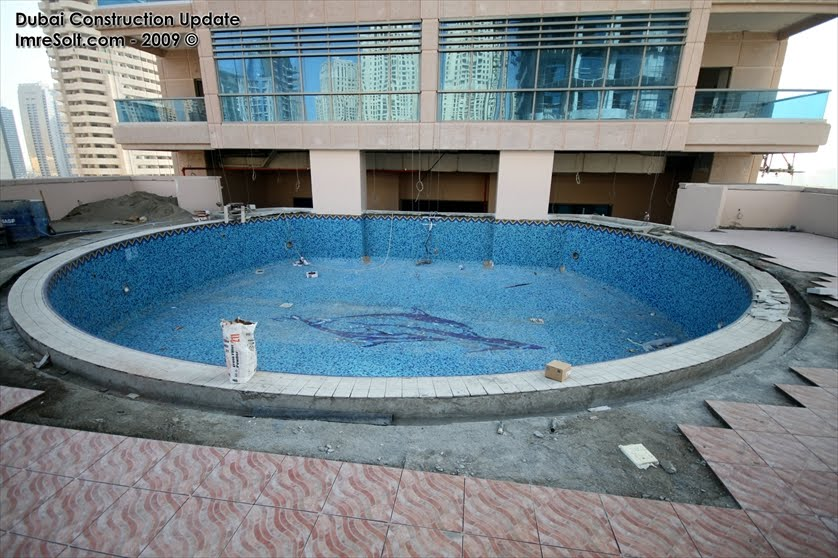 Dubai Constructions Update By Imre Solt Zumurud Tower Swimming Pool And Lobby Construction