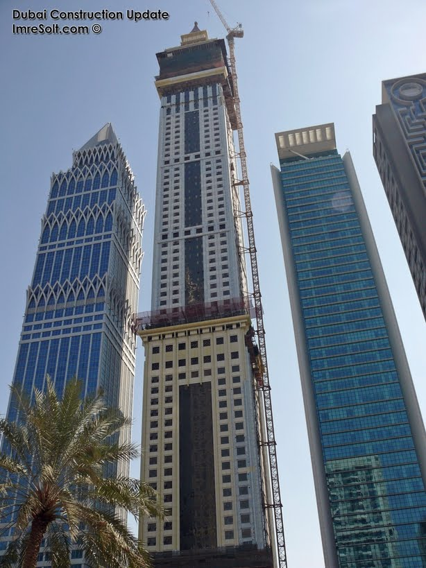 dubai tower 2011. Al Yaqoub Tower construction