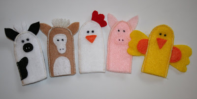 felt barn animals finger puppets