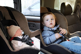 Quinn in carseat