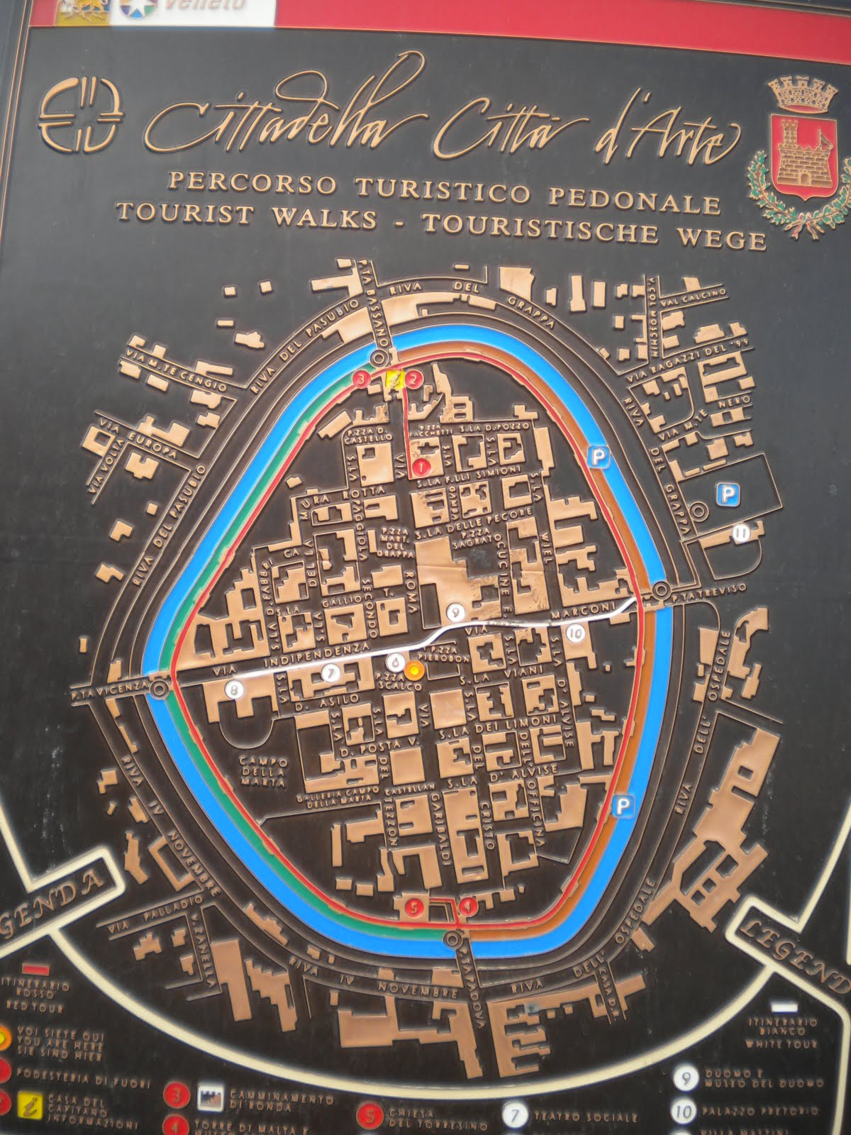 if you expand this photo of the cittadella map you ll see stradella simioni