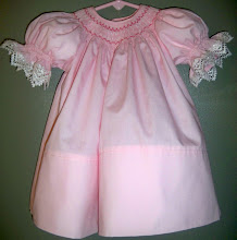 Soft Pink Bishop Dress With Hannah Marie Smocking Design - Size 3 Months - $55.00 + Shipping