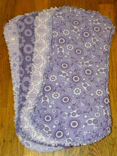 CHICKPEA SEWING STUDIO: Diaper Burp Cloth Tutorial