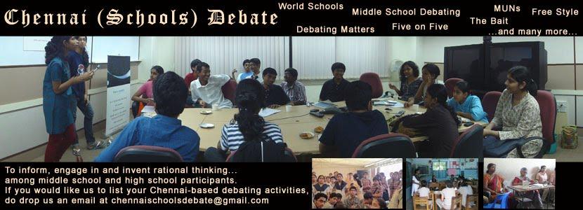 Chennai [School] Debates