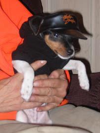 Jesse in his Harley hat and sweatshirt