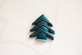 Christmas tree polymer clay ornament