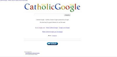 la page d'accueil de catholic Google