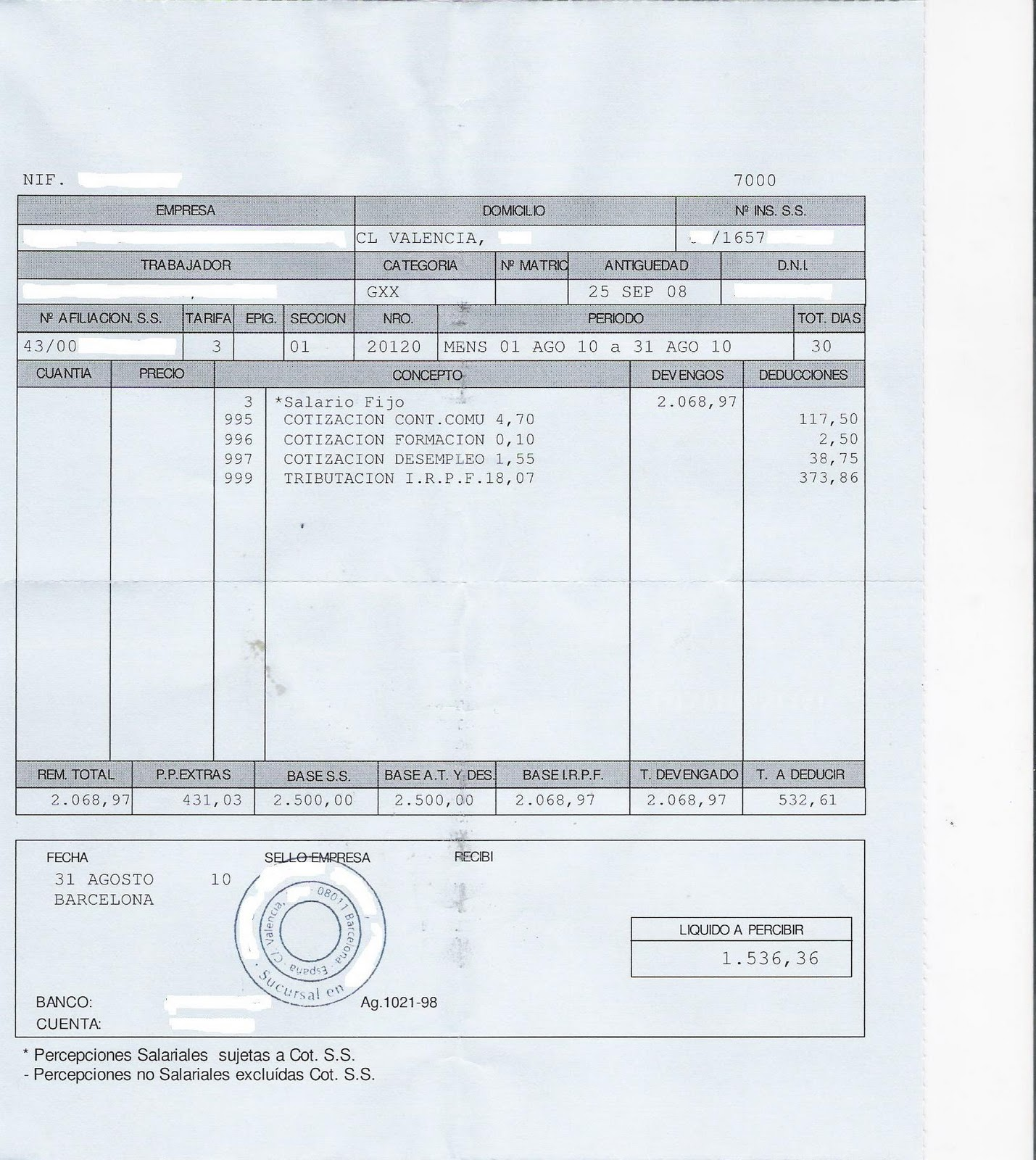 Formatos Recibos Nomina Modelo De Recibo Formato Recibo