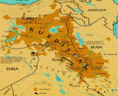 map of kurdistan