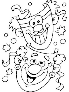 Funny Mask Coloring Pages Pic Image