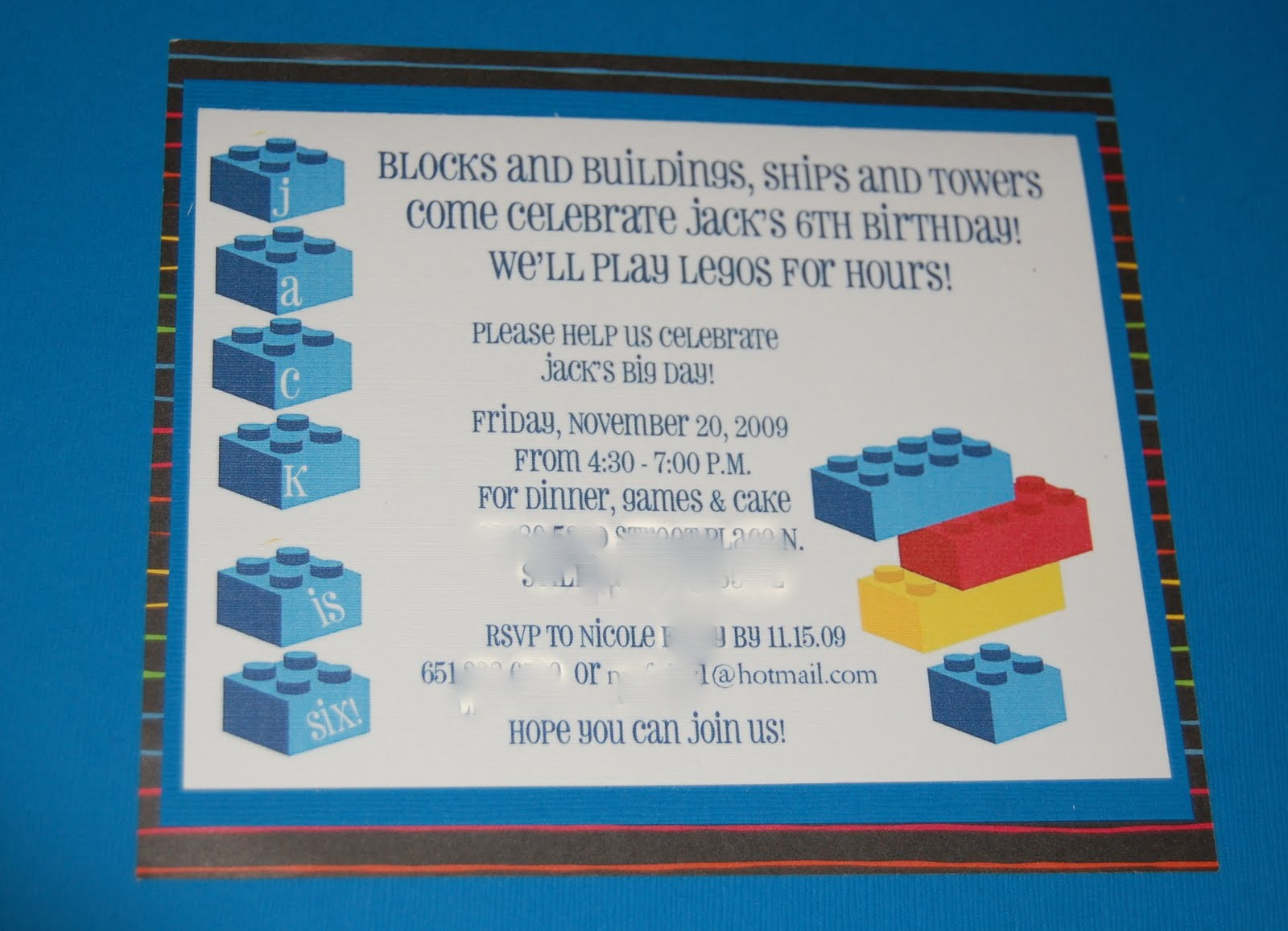 Launder, Fold, Repeat: Lego Party Invitations and Envelope Tutorial