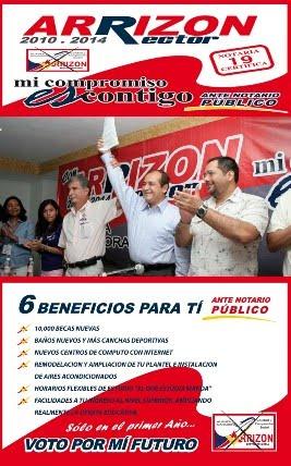 COMPROMISOS DEL DR. ARRIZÓN ANTE NOTARIO PÚBLICO