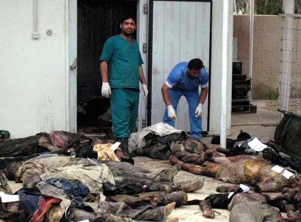 Morgue en Caracas, cadáveres apilados